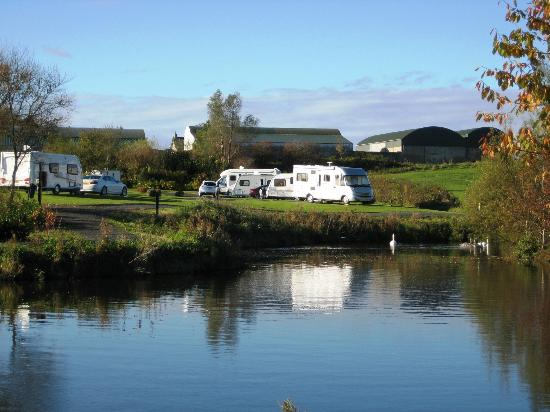 View across the lake, Ballyness caravan Park