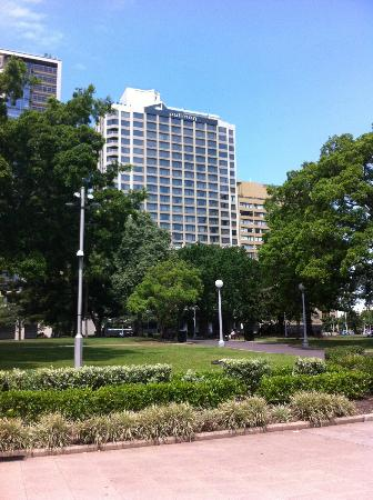 Pullman Sydney Hyde Park: View of The Pullman from Hyde Park (Looking SE) 