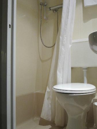 Arosfa Hotel: Rm 12__Toilet and Shower Stand