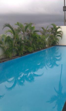 Pool at Embocca, runs inside.