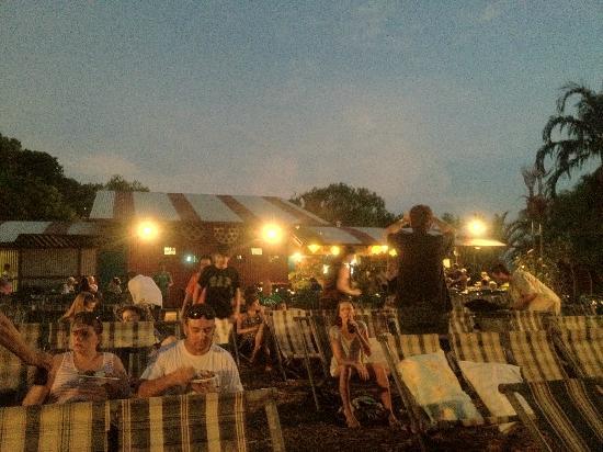 after sunset at Deckchair Cinema
