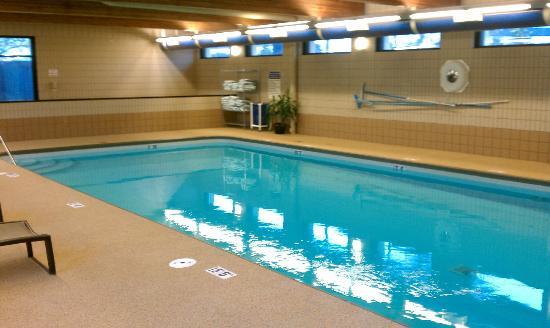 DoubleTree by Hilton Hotel Chicago - Schaumburg: indoor heated pool with wonderful soft decking material