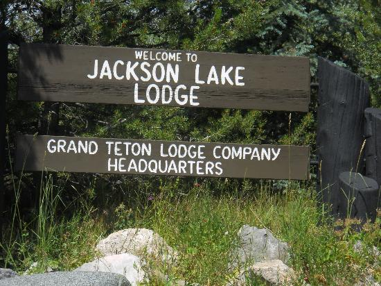 Jackson Lake Lodge: Welcome Sign