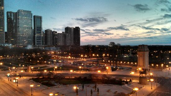 The Congress Plaza Hotel and Convention Center: View from our room facing Michigan Avenue