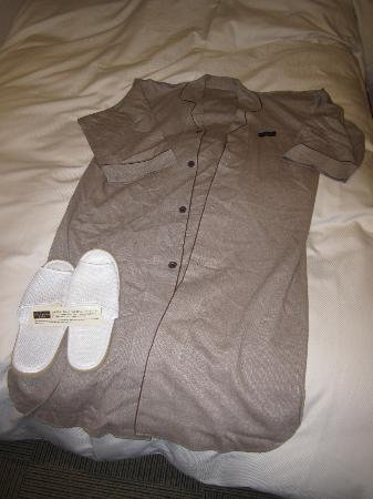 Mitsui Garden Hotel Yotsuya: Robe and slippers provided!