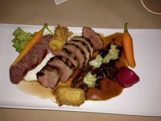 Backyard Bistro: Three Distinct flavors in their Lamb Special