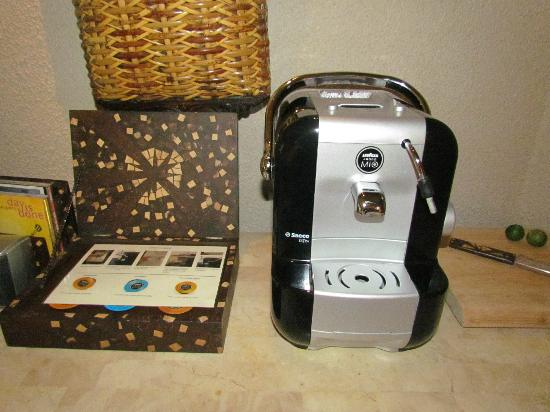 Amanpulo: coffee machine in our casita