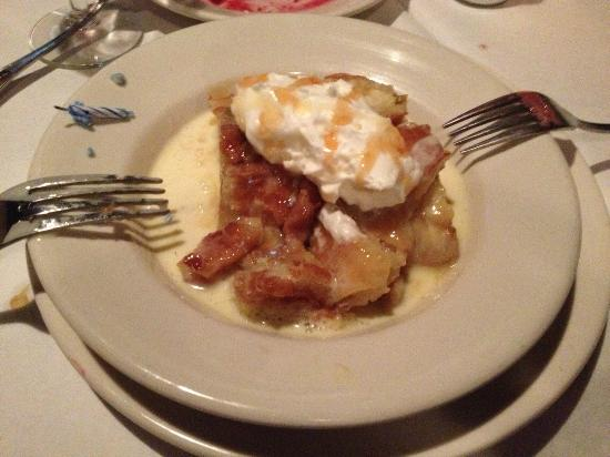 White Chocolate Grill: White chocolate bread pudding
