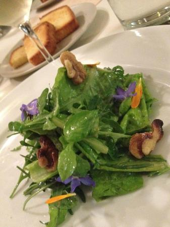 Michael Warring: The salad is so fresh with such pretty delectable flowers.