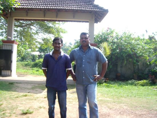 Casamaria Beach Resort: Nishanth & Manager Gypson
