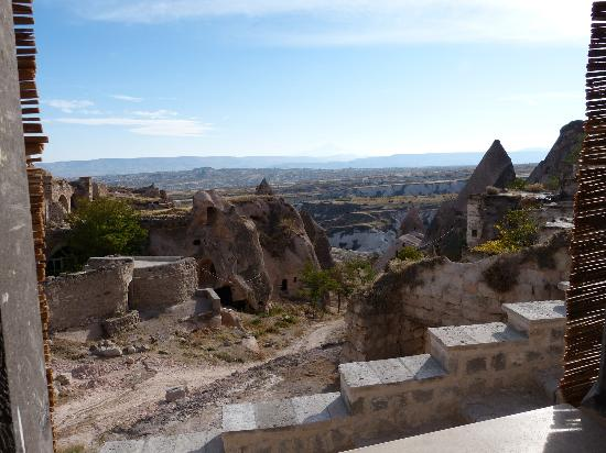 Takaev Cave Hotel: vue de notre chambre