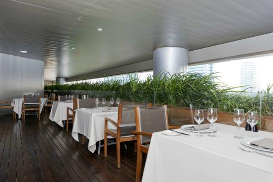 Indigo restaurant terrace picture of indigo restaurant for Terrace 45 restaurant