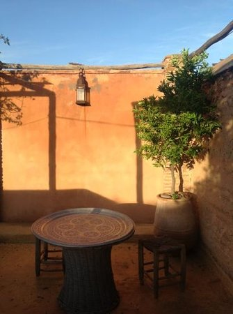Riad Tibibt: la terrasse le matin
