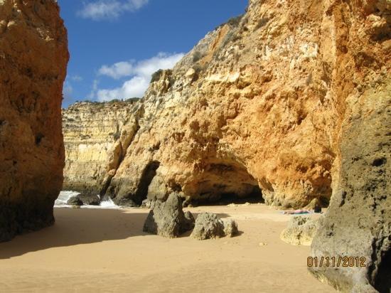 Praia da Rocha, Portugal: Strand von Vau bei Portimão
