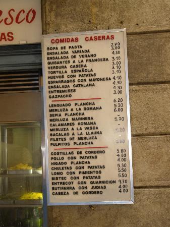 Restaurante Romesco : ceny