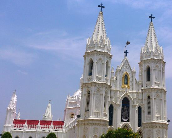Velankanni, India: Nice church