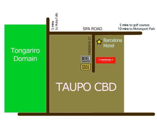 Barcelona Motel: Map