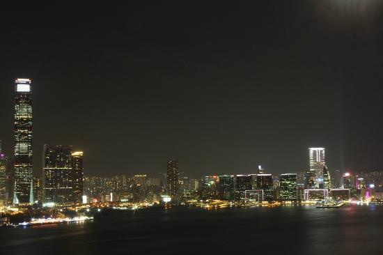 CHI Residences 138: Night time view from roof of CHI138 looking across Kowloon
