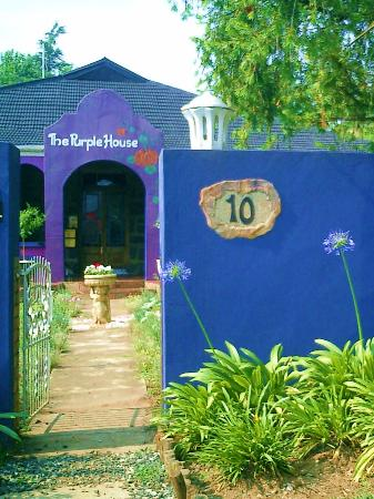 Lilac Lodge: Entrance at Purple House