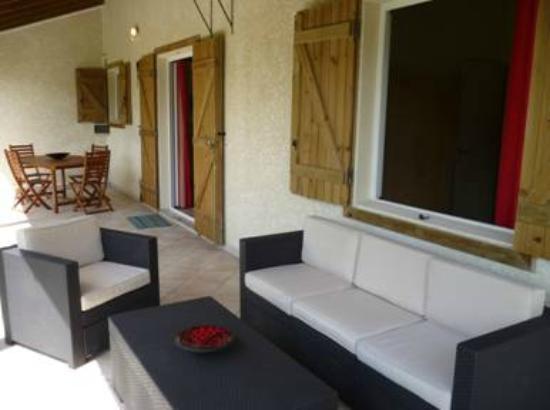 Ti-Soleil: Terrasse T2 mezzanine pour 5personnes