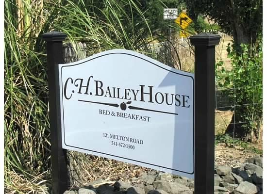 C. H. Bailey House: CH Bailey House sign