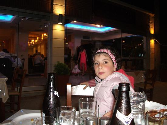 Pixida Restaurant: mia figlia al ristorante pixida