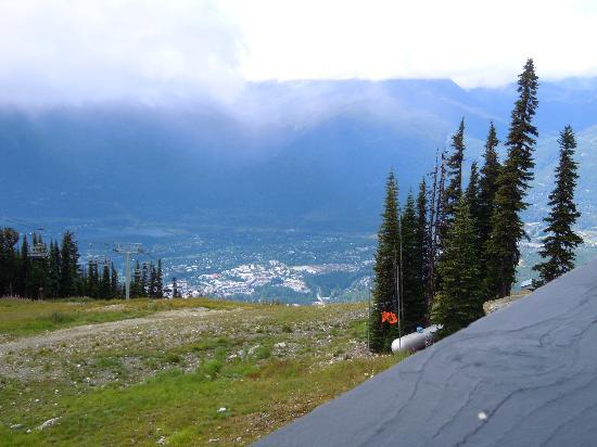 Whistler Blackcomb: View of Whistler from gondola