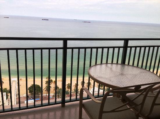 Marriott's BeachPlace Towers: Ocean Front Balcony from my Room