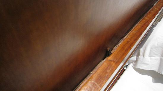 Albergaria Catedral : Exposed wire without insulation just above the bed.