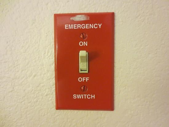 Inn on the Square: An emergency switch already set to 'on'...