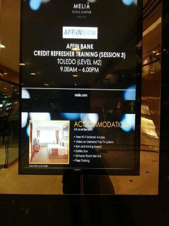Melia Kuala Lumpur: No free wifi as stated