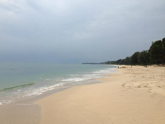 Kota Tinggi, Malaysia: the beach is pristine and clean and not a single soul - peaceful (monsoon month)