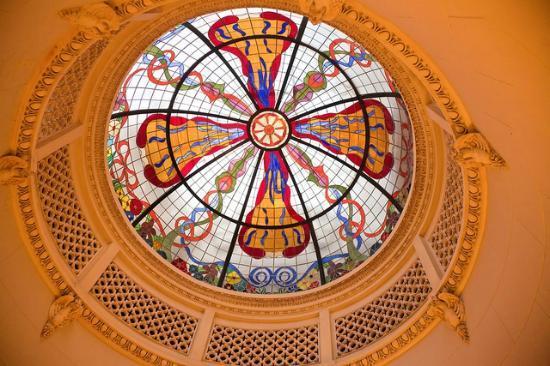 Casa Espanola : Stained Glass Skylight.