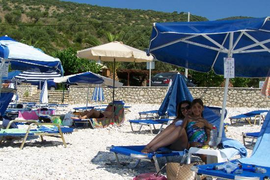Ammoussa Beach: Unbrellas and Chairs for Hire!