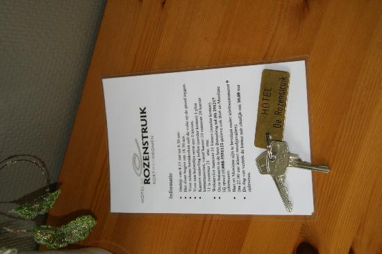 Hotel de Rozenstruik : De sleutel voor uw kamer?