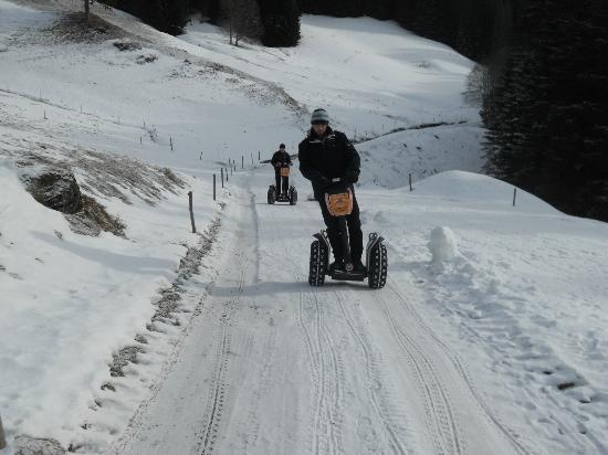 Mobilboard Segway : La Clusaz sur neige
