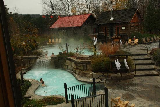 The Hot Baths And Sauna Picture Of Scandinave Spa At Blue Mountain Blue Mountains Tripadvisor