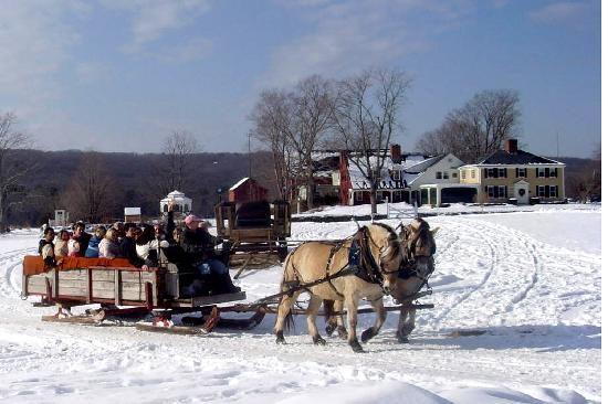 Winter Sleigh Ride In Charlton Ma Picture Of