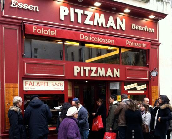 Restaurant Kosher Pitzman : 店門口