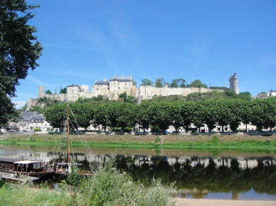 Camping Municipal de l'Ile Auger: richard the lionheart castle from camp site