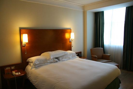 Hilton Rome Airport Hotel : Standard King Room - comfortable bed - what you expect from a Hilton.