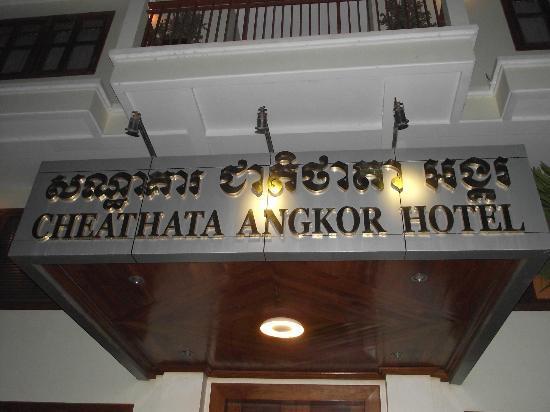 Cheathata Angkor Hotel: At the front of hotel