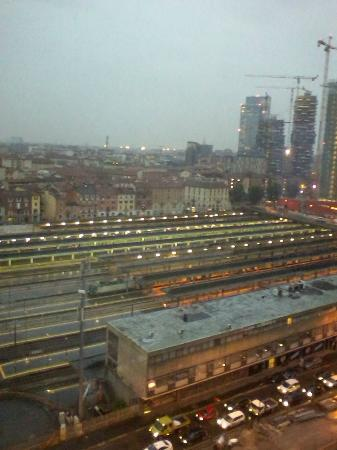 AC Hotel Milano: View of train station adjacent to hotel from my room