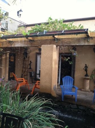 Milo's Inn at Boulder: one room from pond