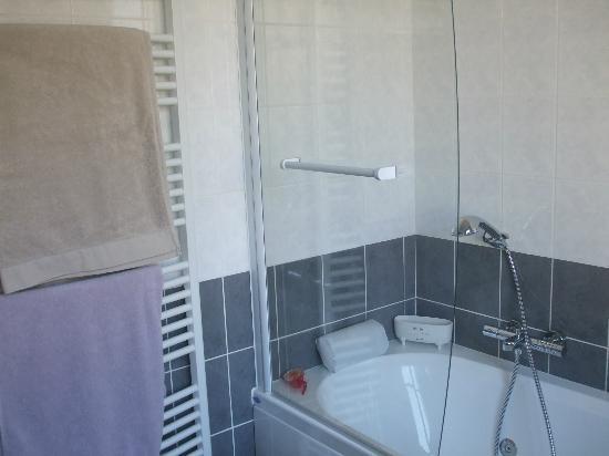 Escapade Amboisienne: salle de bain chambre cocooning baignoire spa