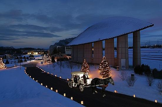 Grand Rapids, MI: Take a carriage ride in the snow at Frederik Meijer Gardens and Sculpture Park