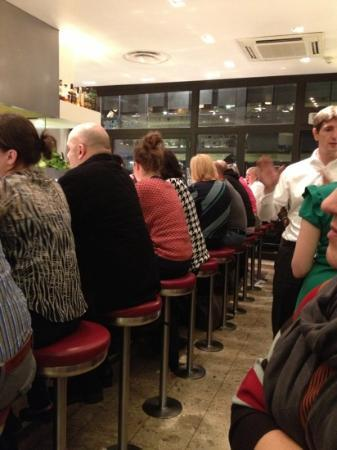 Barrafina: Thursday evening = endless queue.