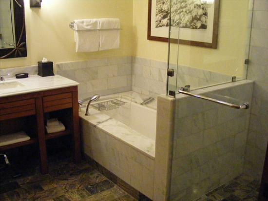 Stowe Mountain Lodge: All Marble Bathroom, Beautiful!!