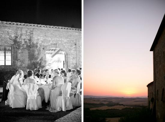 Agriturismo Sant'Anna in Camprena: Hochzeitsempfang im Klostergarten und Sonnenuntergang