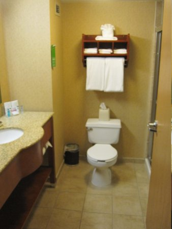 Hampton Inn Erie-South: standard hampton inn bathroom